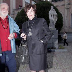 Concha Velasco en el funeral de Paco Valladares