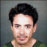 Ficha policial del actor Robert Downey Jr.