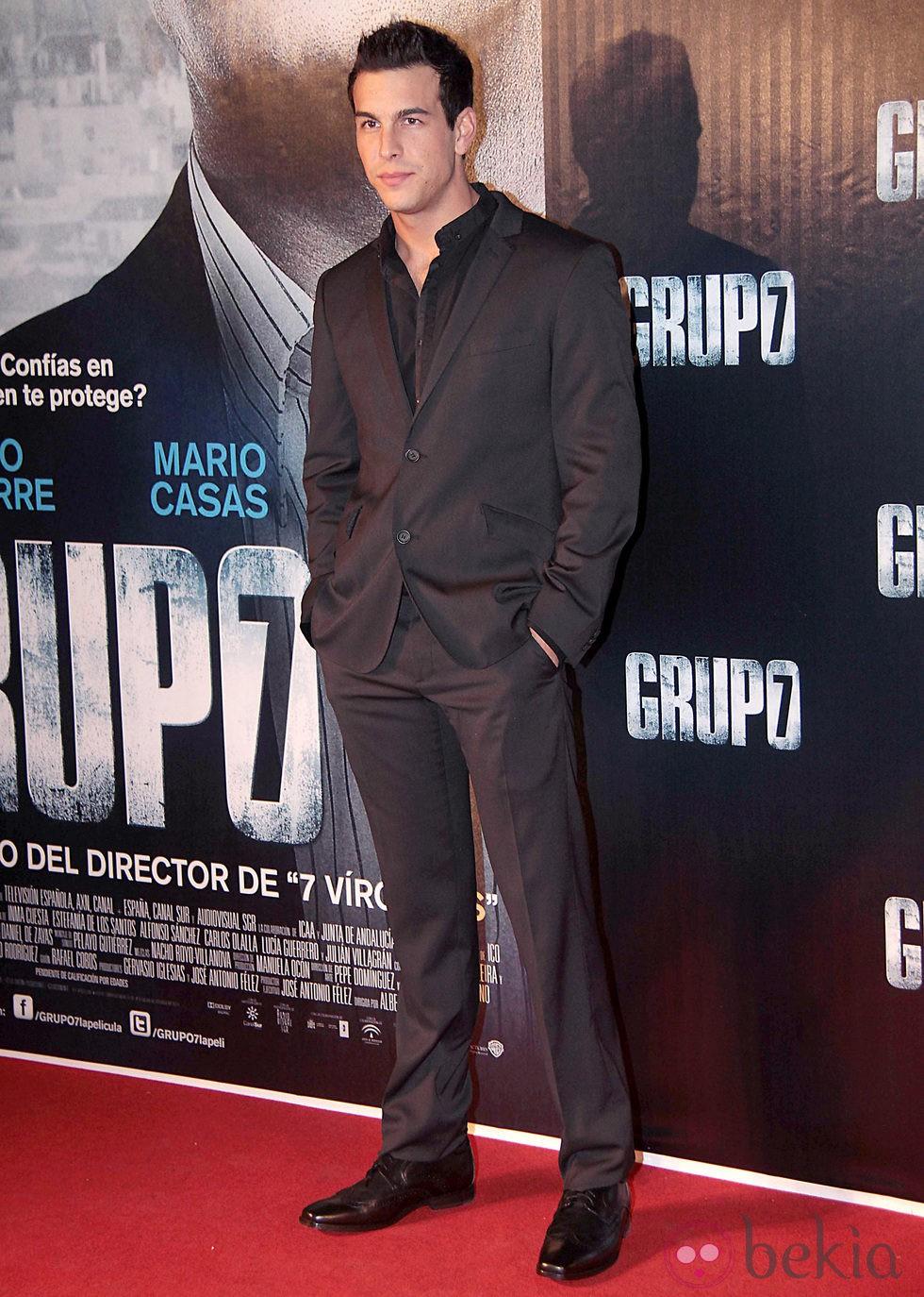 Mario Casas en la premiere de 'Grupo 7' en Sevilla
