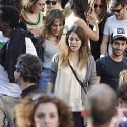 Irene Montalà, Blanca Suárez y Jonás Berami en la manifestación contra la Reforma Laboral