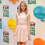 Emma Stone asistió a los premios Kids Awards