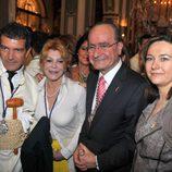 Antonio Banderas y la Baronesa Thyssen en la Semana Santa de Málaga