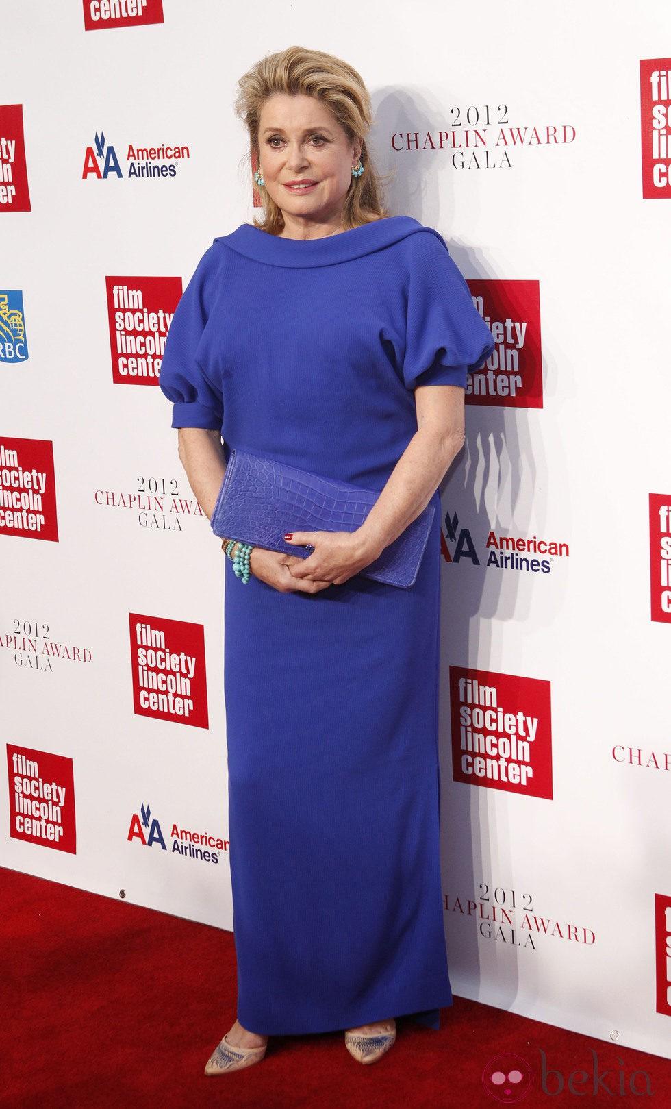 Catherine Deneuve premiada el los Chaplin Awards