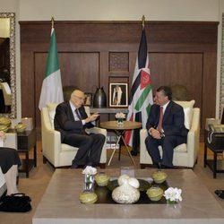 Abdalá y Rania de Jordania junto al Presidente de Italia y su esposa