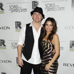 Channing Tatum y su esposa Jenna Dewan en el Revlon Nueva York