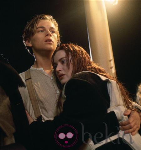 Leonardo Dicaprio y Kate Winslet en una escena clave de la película 'Titanic'