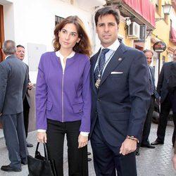 Fran Rivera y Lourdes Montes en la Semana Santa de Sevilla