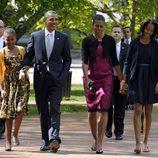 Barack Obama y su familia acuden a misa de Domingo de Pascua