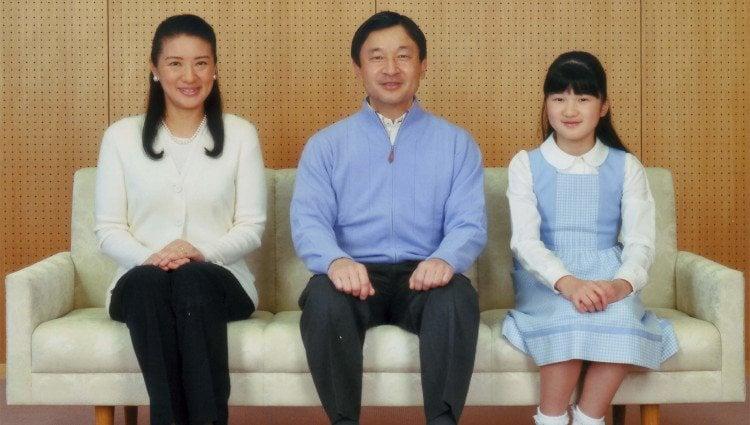 Los Príncipes Naruhito y Masako de Japón y la Princesa Aiko