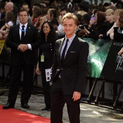 Tom Felton en el estreno de Harry Potter en Londres