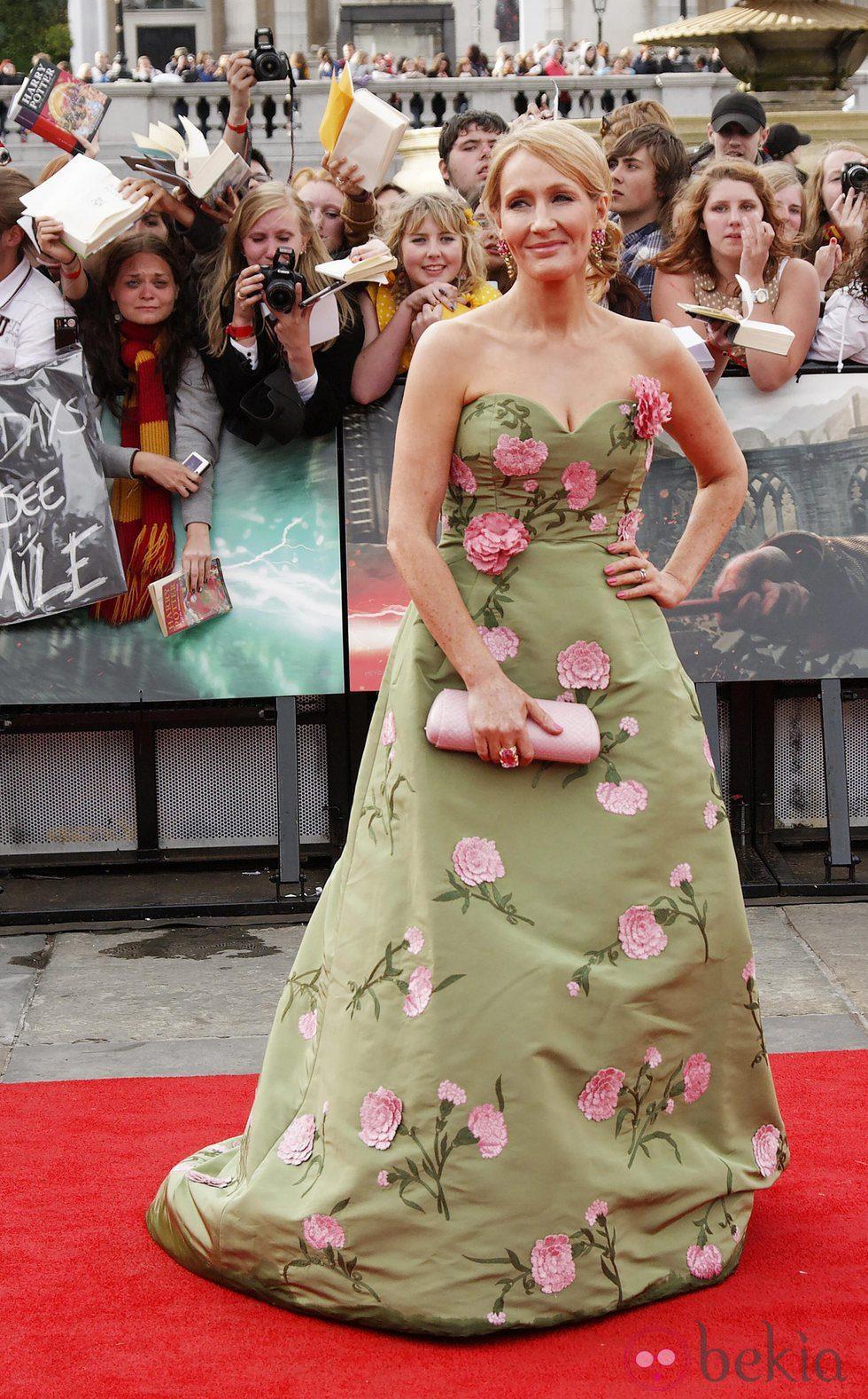 J.K. Rowling en el estreno de Harry Potter en Londres