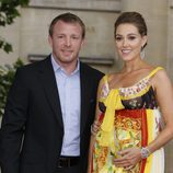Guy Ritchie y Jacqui Ainsley en el estreno de Harry Potter en Londres