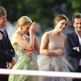 Emma Watson y J.K. Rowling llorando en el estreno de Harry Potter en Londres