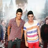 David de Auryn y Jefferson de OT en el preestreno de Harry Potter en Madrid