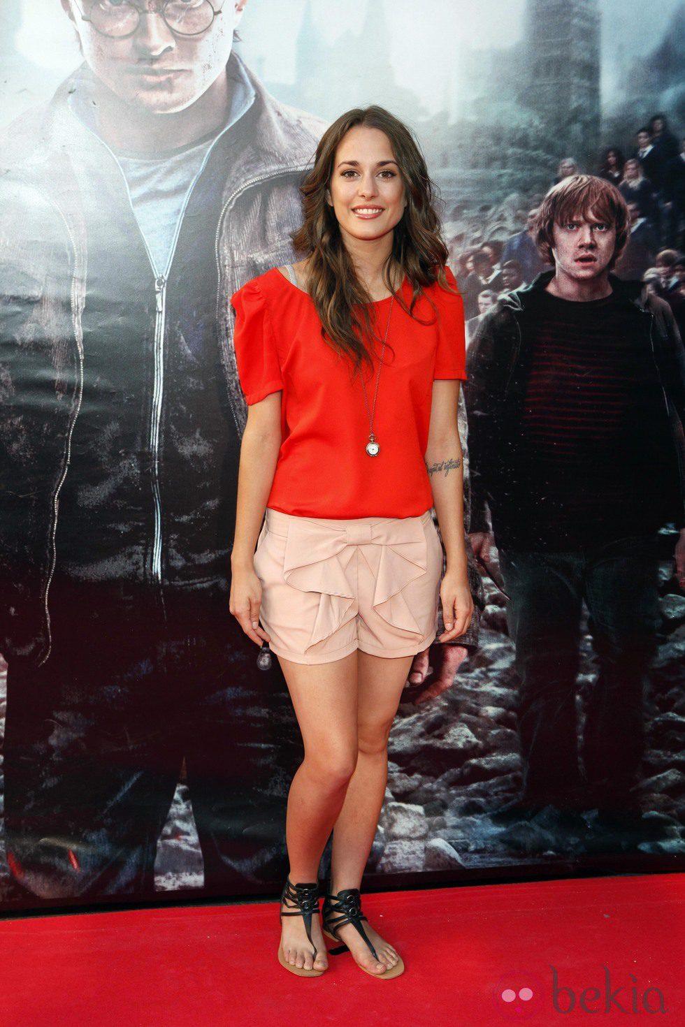 Silvia Alonso en el preestreno de Harry Potter en Madrid