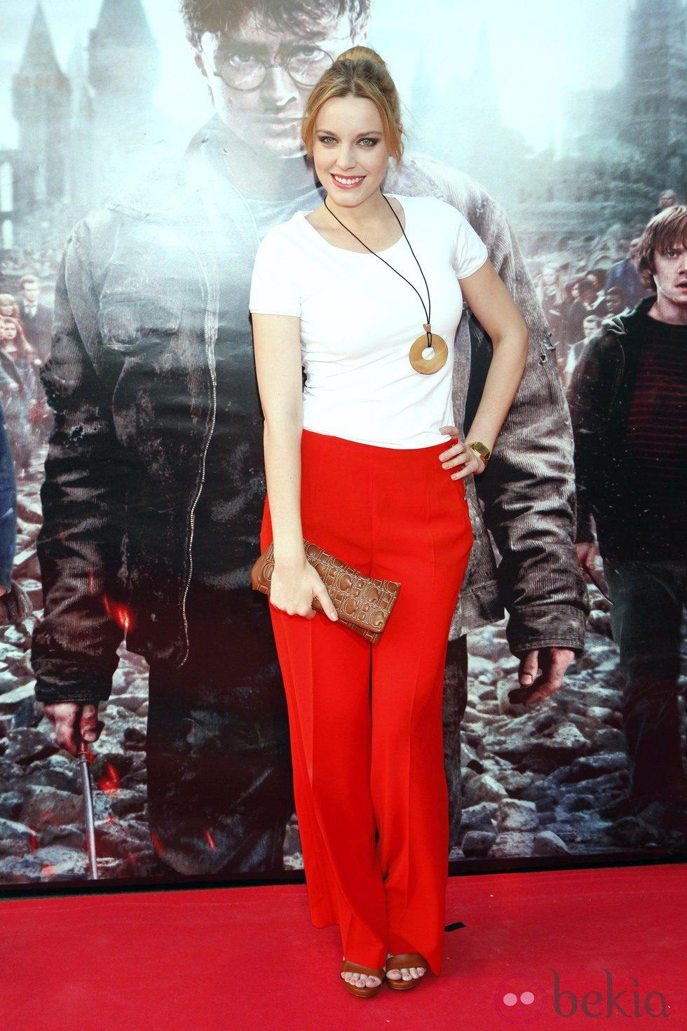 Carolina Bang en el preestreno de Harry Potter en Madrid