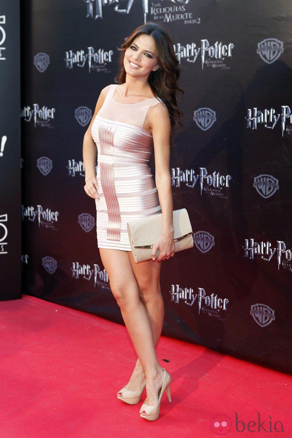Romina Belluscio en el preestreno de Harry Potter en Madrid