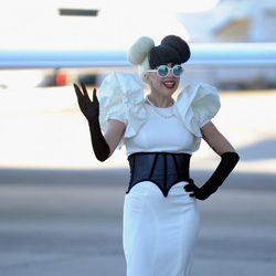 Lady Gaga, a lo Mickey Mouse bicolor