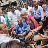 Ortega Cano habla con la prensa