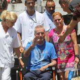 Ortega Cano en silla de ruedas
