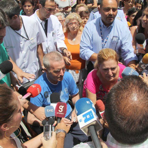 Salida del hospital de Ortega Cano