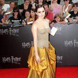 Emma Watson, de dorado en Nueva York