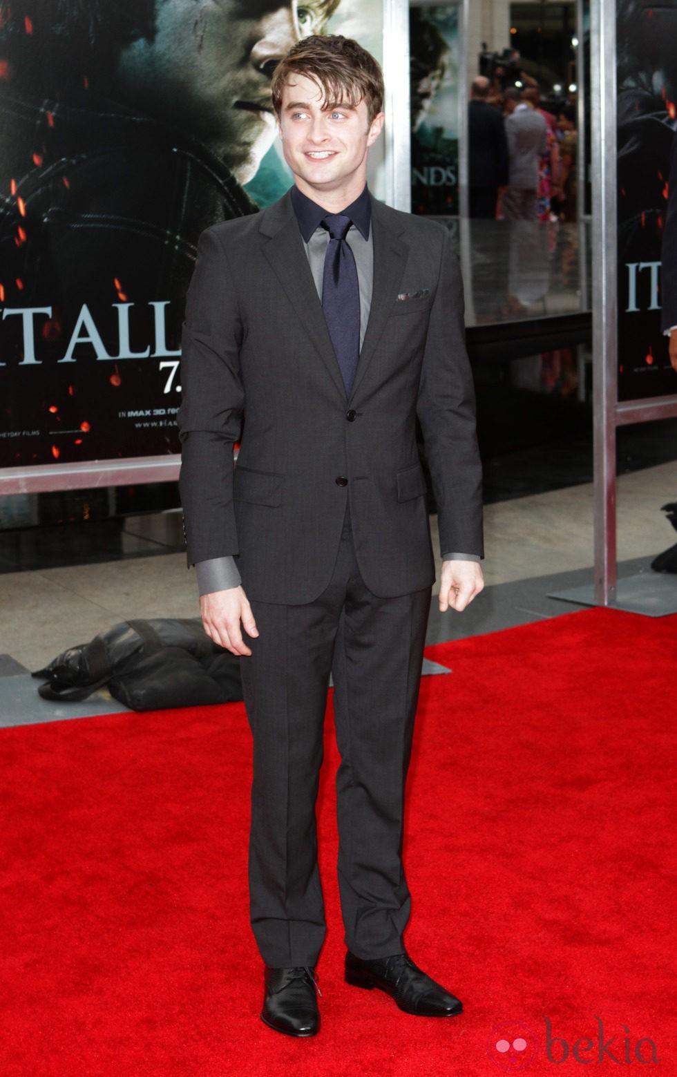 Daniel Radcliffe en la premiére neoyorkina de 'Harry Potter y las reliquias de la muerte: Parte 2'
