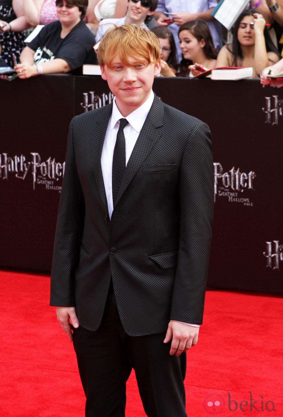 Rupert Grint en la premiére neoyorkina de 'Harry Potter y las reliquias de la muerte: Parte 2'