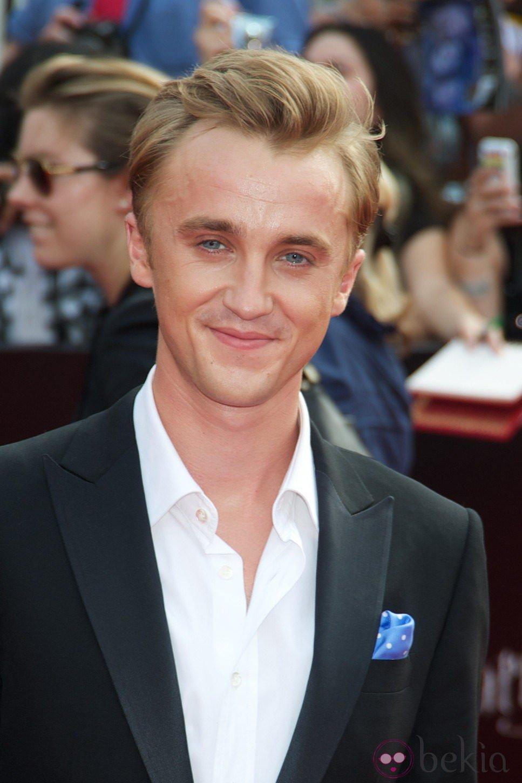 Tom Felton en la alfombra roja de Harry Potter en Nueva York