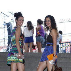 Lidia San José y Ruth Gabriel en el concierto de Black Eyed Peas en Madrid