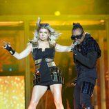 Fergie luce piernas durante el concierto de Black Eyed Peas en Madrid