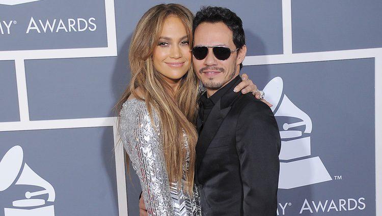 Jennifer Lopez y Marc Anthony en los Grammy