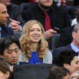 Chelsea Clinton en la final del Mundial de Fútbol Femenino 2011