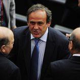 El presidente de la UEFA en la final del Mundial de Fútbol Femenino 2011