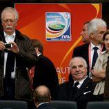 Helmut Kohl en la final del Mundial de Fútbol Femenino 2011