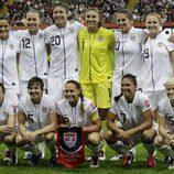 El equipo de Estados Unidos en la final del Mundial de Fútbol Femenino 2011