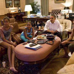 Los Obama reunidos para la final del Mundial de Fútbol Femenino 2011