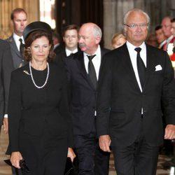 Los Reyes de Suecia en el funeral de Otto de Habsburgo