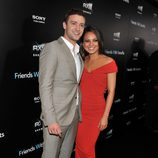 Justin Timberlake y Mila Kunis en la premiere de 'Friends with benefits' en Nueva York
