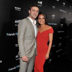 Justin Timberlake y Mila Kunis en la premiere de 'Friends with benefits' en Nueva York