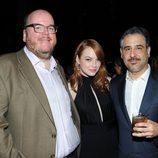 Emma Stone junto a Glenn Ficarra y John Requa en el estreno de 'Crazy, Stupid, Love'