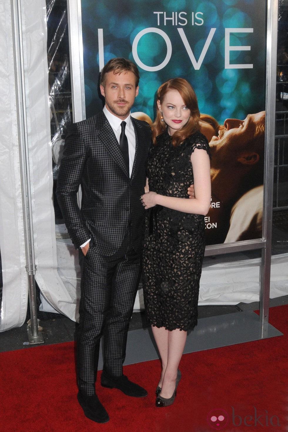 Ryan Gosling y Emma Stone en el estreno de 'Crazy, Stupid, Love' en Nueva York