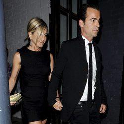 Jennifer Aniston y Justin Theroux juntos en Londres