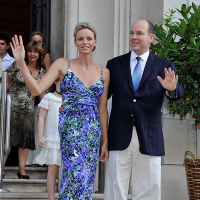 Alberto y Charlene de Mónaco en su primer acto oficial tras su luna de miel