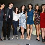 Taylor Lautner, Robert Pattinson, Kristen Stewart, Ashley Greene, Julia Jones, Nikki Reed y Elizabeth Reaser