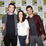Robert Pattinson, Kristen Stewart y Taylor Lautner en Comic-Con 2011