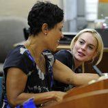 Lindsay Lohan y su abogada Shawn Chapman