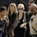 Lindsay Lohan a su llegada a los juzgados de Los Angeles para revisar su caso