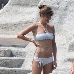 Helena Christensen en bikini en Isquia