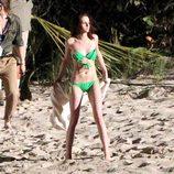 Kristen Stewart en bikini en el rodaje de 'Amanecer'